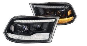 Scheinwerfersatz in Voll LED Technik für  Ram 2009 bis 2018 und 2019 Ram Classic